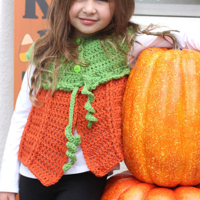 Crochet Pumpkin Sweater Vest