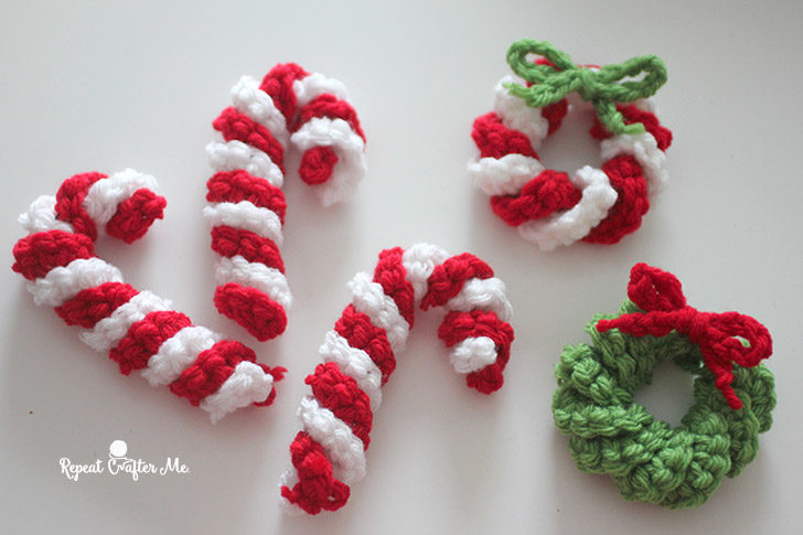 Easy Crochet Candy Canes Repeat Crafter Me