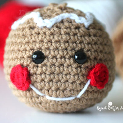 Crochet Gingerbread Head
