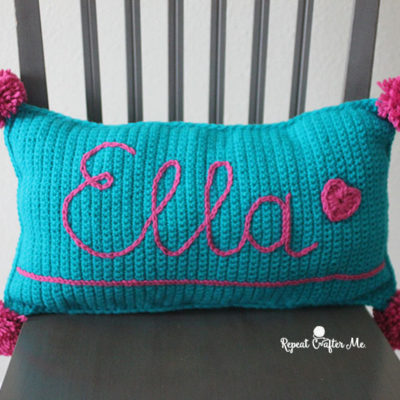 Surface Slip Stitch Crochet Pillow