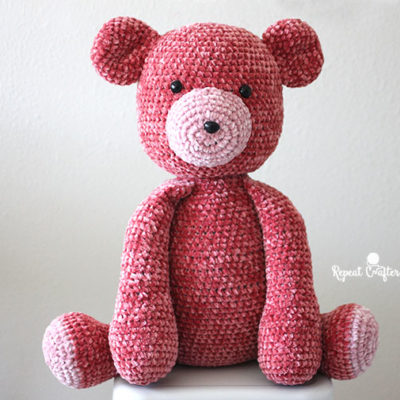 Big Bernat Velvet Crochet Bear