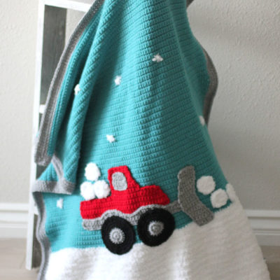 Crochet Snowplow Blanket