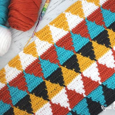 Crochet Triangle Blanket