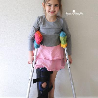 Crochet Caron Cakes Crutch Covers