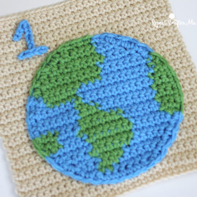 1 Earth – Crochet Quiet Book Page 1