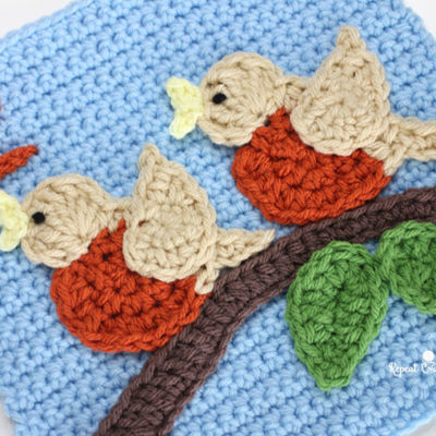 2 Birds – Crochet Quiet Book Page 2