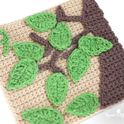 9 Leaves – Crochet Quiet Book Page 9