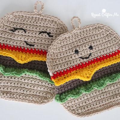 Crochet Hamburger HotPad