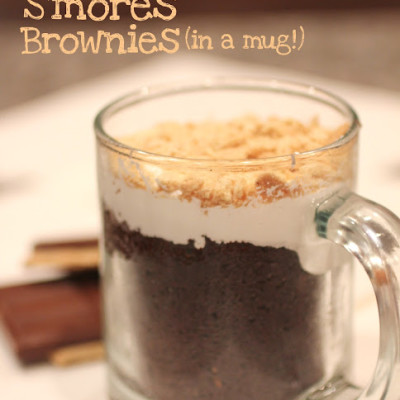 Crock Pot S'mores Brownies (In a Mug!)