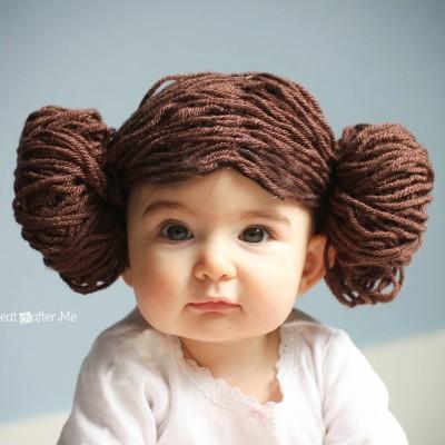 Princess Leia Yarn Wig