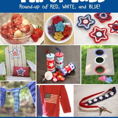 4th of July Crafts, Crochet Patterns, and Recipe Round-up!