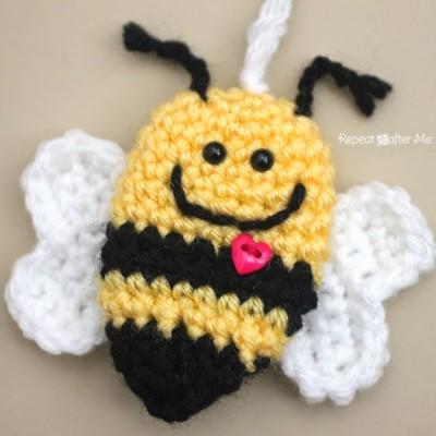 Crochet Bumble Bee Keychain