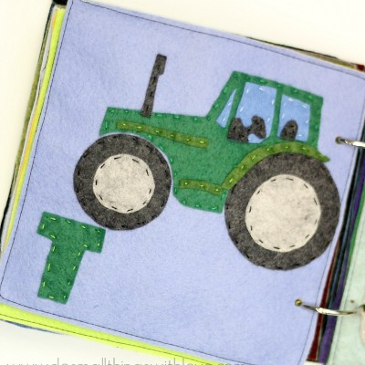 T is for Tractor – Felt Alphabet Book Pattern and Giveaway!