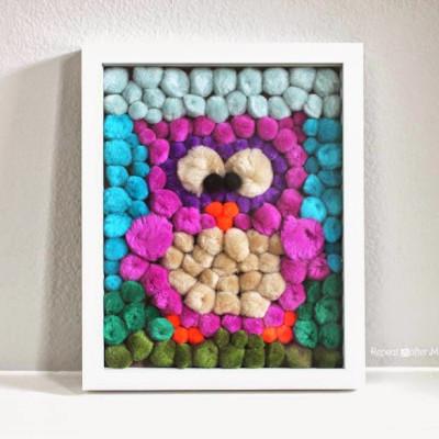 Pom Pom Owl Art