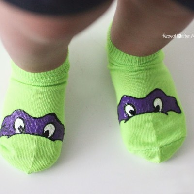 DIY Ninja Turtle Socks