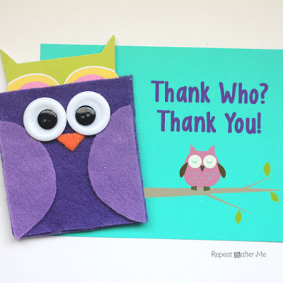 Felt Owl Gift Card Holder