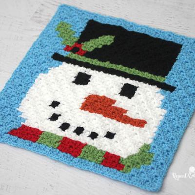 Crochet Snowman Pixel Graph