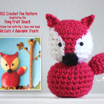 Wild Eats & Adorable Treats Book Review, Giveaway, and Inspired Crochet Fox Pattern
