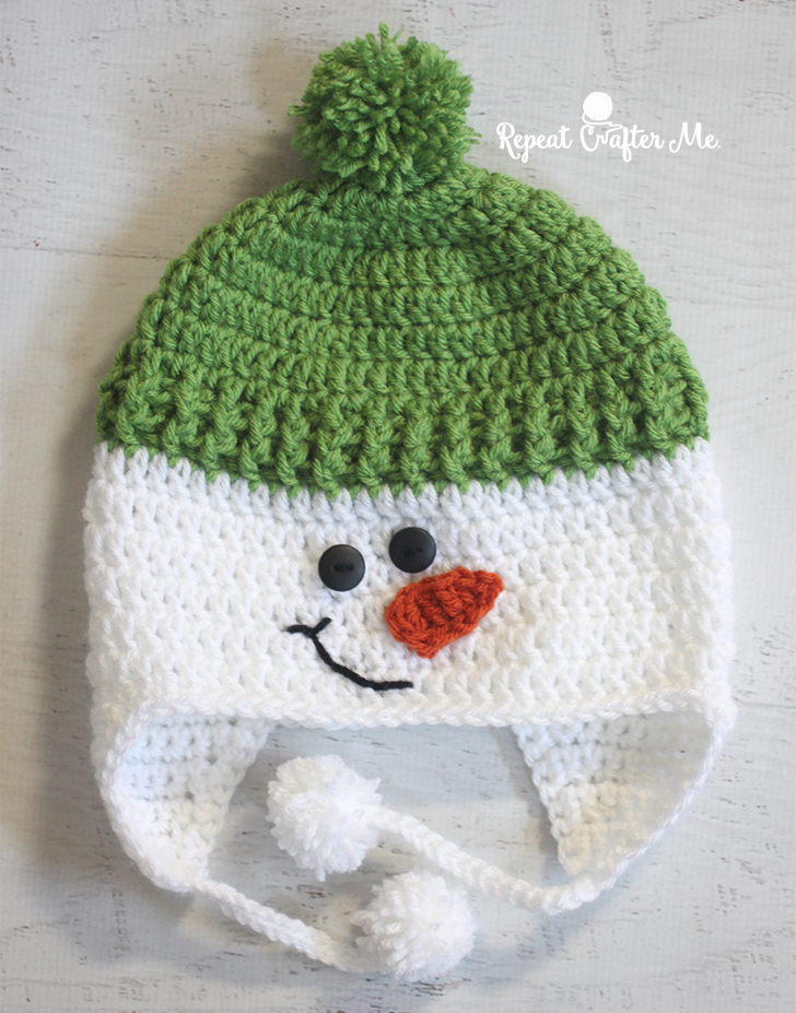Crochet Snowman Hat Repeat Crafter Me
