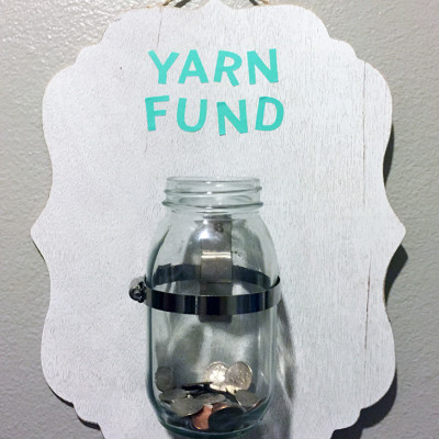 Laundry Change Yarn Fund Jar