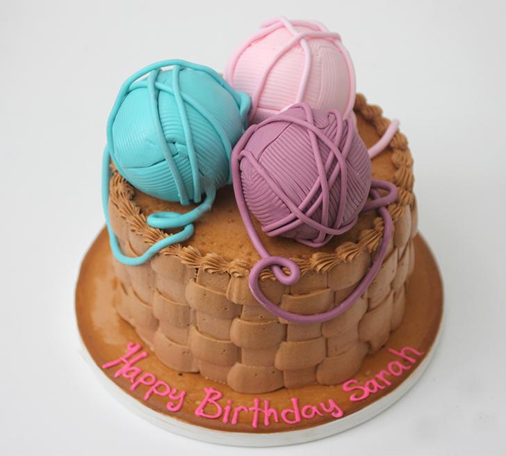 Yarn Ball Birthday Cake