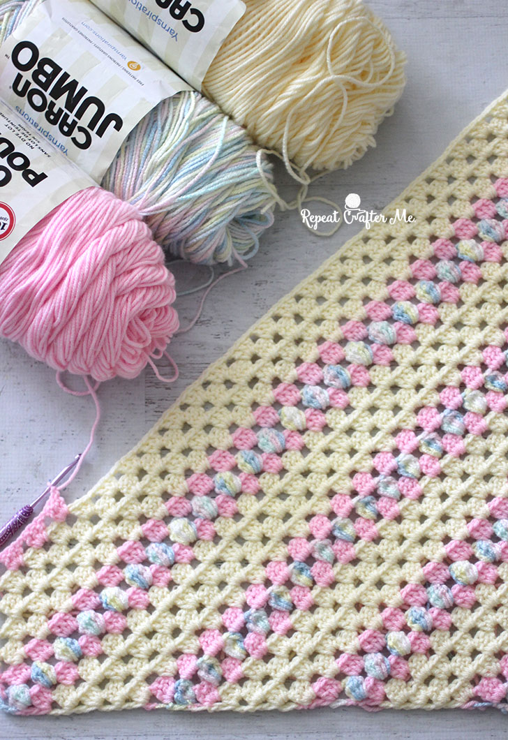 How To Crochet Corner To Corner Using The Granny Stitch Repeat Crafter Me