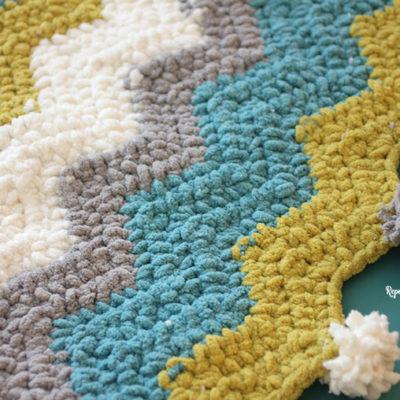 Bernat Blanket Stripes Crochet Chevron Blanket