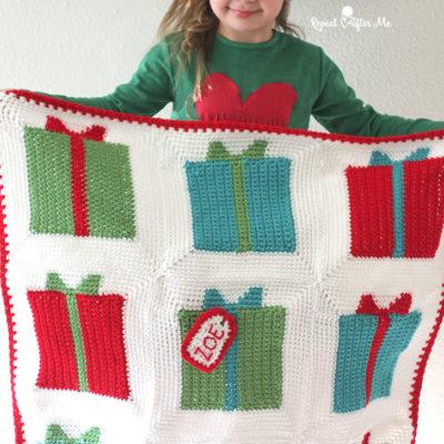 Gift Box Granny Square Blanket