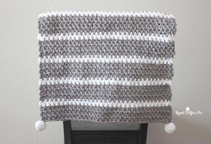 Quick and Easy Bernat Moss Stitch Baby Blanket - Repeat