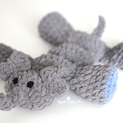 Crochet Elephant Squeaker Toy for Dogs