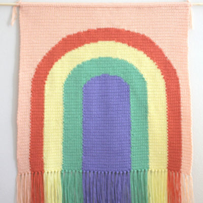 Crochet Rainbow Wall Hanging