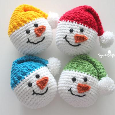 Crochet Snowman Heads