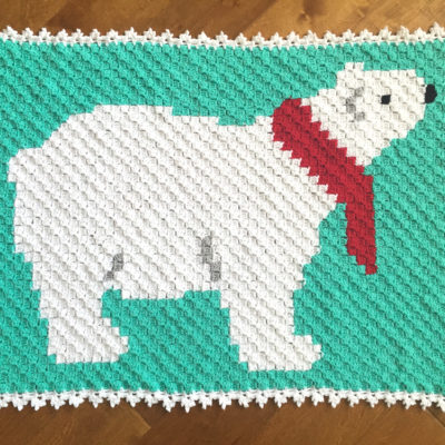 Polar Bear C2C Crochet Blanket