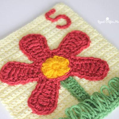 5 Petals – Crochet Quiet Book Page 5