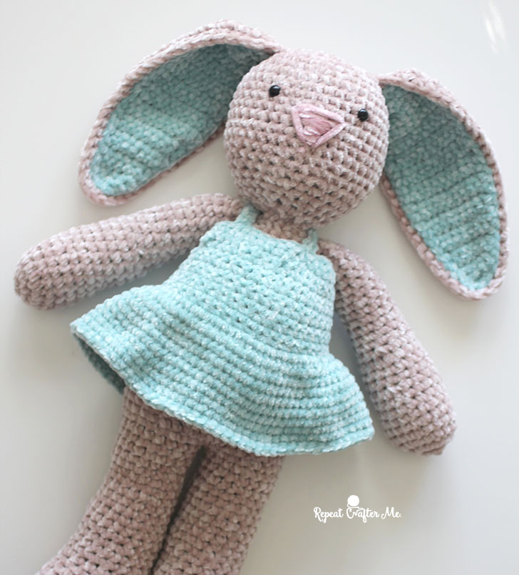 Plush bunny in dress amigurumi | Amiguroom Toys | 806x728