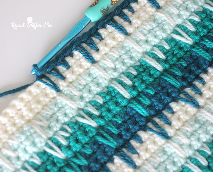 Crochet Spike Stitch Blanket - Repeat Crafter Me