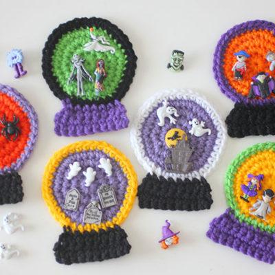 Crochet Halloween SnowGlobes