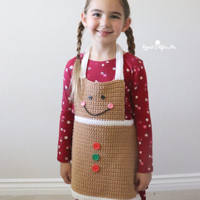 Crochet Gingerbread Apron