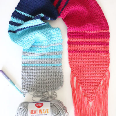 Heat Wave Crochet Scarf