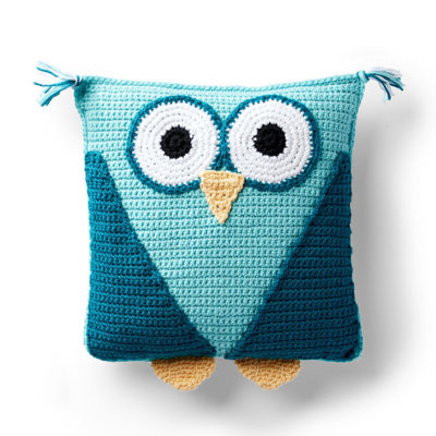 Red Heart Crochet Owl Pillow