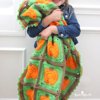 Crochet Pumpkin Patch Blanket