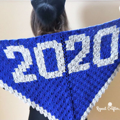 Crochet C2C New Years 2020 Shawl