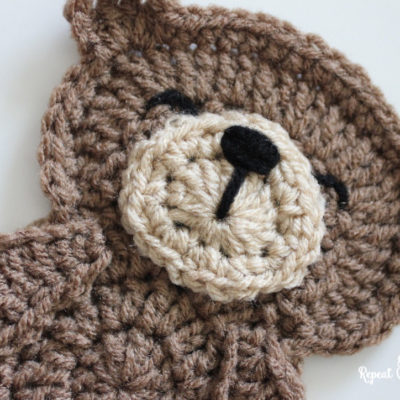 Crochet Teddy Bear Applique
