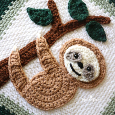 Crochet Sloth Applique