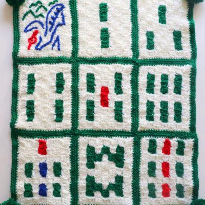 Crochet Mahjong Bam Blanket