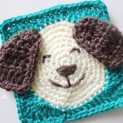 Crochet Caron Puppy Square