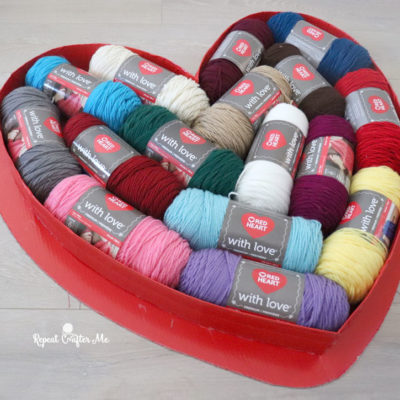 Jumbo Heart Box Filled with Yarn