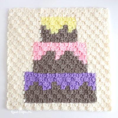 Cake Crochet C2C Square