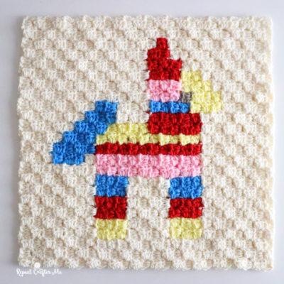 Piñata Crochet C2C Square
