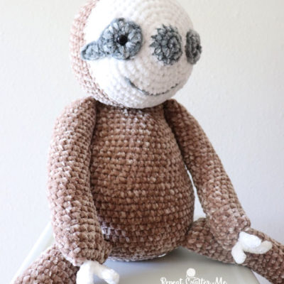 Crochet Sloth with Bernat Velvet Yarn